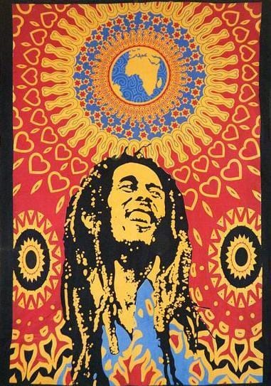 Tapestries Bob Marley - One World - Red - Tapestry 008387