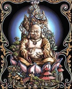 Tapestries Buddha - Black Light Tapestry 000798