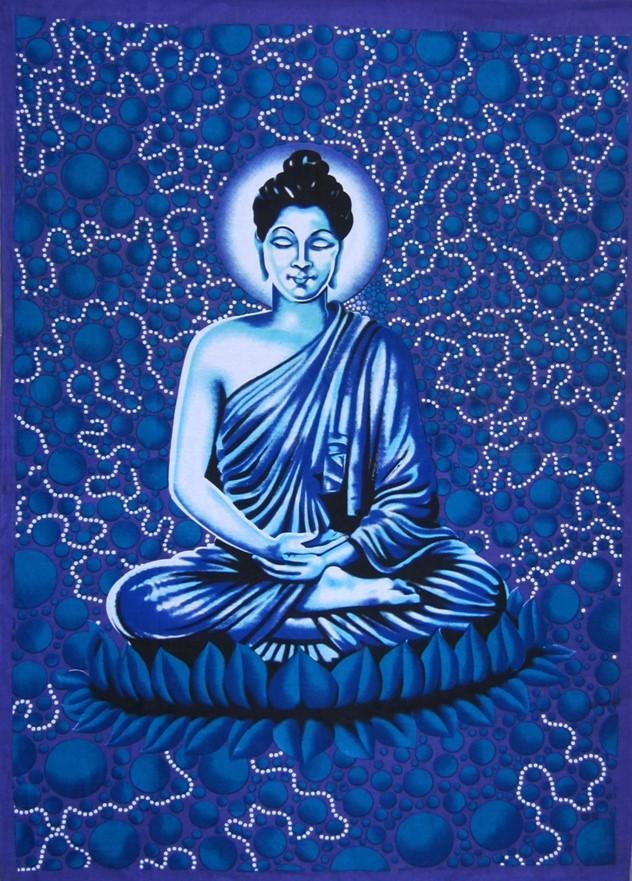 Tapestries Buddha Bubble - Blue - Tapestry 008338