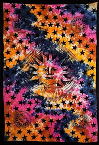Tapestries Celestial Sun and Moon - Tie-Dye - Tapestry 100205