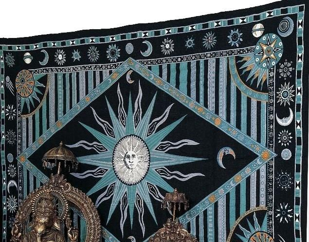 Tapestries Celestial Sun - Green - Tapestry 100351