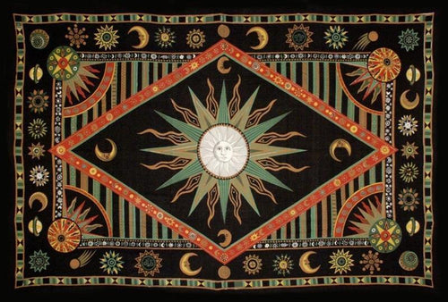 Tapestries Celestial Sun - Multi-Color - Tapestry 100279