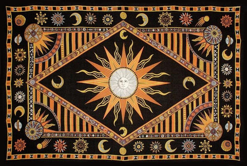 Tapestries Celestial Sun - Orange and Yellow - Tapestry