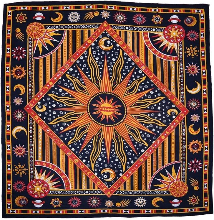 Tapestries Celestial Sun - Red and Golden - Tapestry 000815