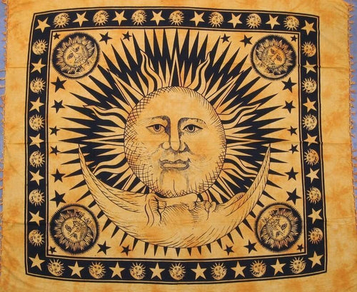 Tapestries Celestial with Fringe - Orange - Tapestry 006141