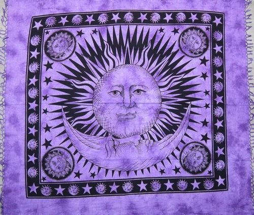 Tapestries Celestial with Fringe - Purple - Tapestry 006139