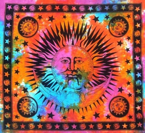 Tapestries Celestial with Fringe - Tie-Dye - Tapestry 100371