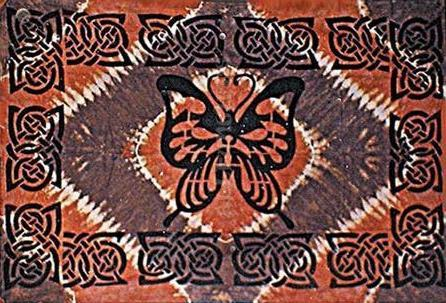 Tapestries Celtic Butterfly - Tie-Dye Tapestry 001658