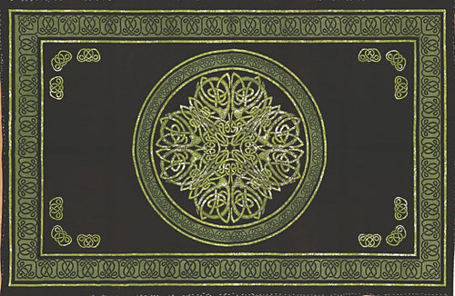 Tapestries Celtic Knot - Dark Green - Tapestry 003577