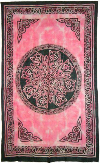 Tapestries Celtic Knot Mandala - Rose Red - Tapestry 100470
