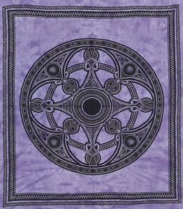 Tapestries Celtic Mandala - Purple and Black - Tapestry ta-20