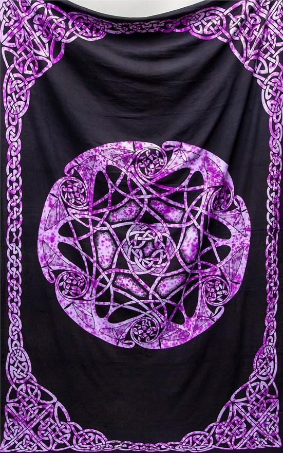 Tapestries Celtic Mandala - Purple TIe-Dye - Tapestry 100674