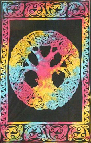Tapestries Celtic Tree - Tie-Dye - Tapestry 010641