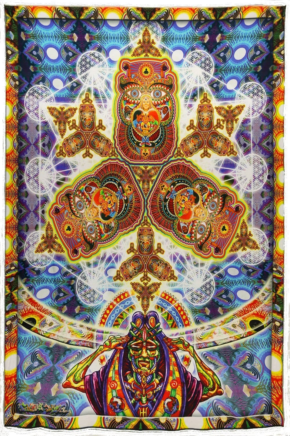 Tapestries Chris Dyer - Healing Fractal - Tapestry 010248