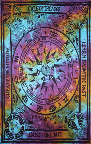 Tapestries Cycle of Age - Tie-Dye - Tapestry 006171