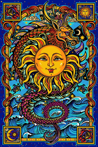 Tapestries Dragon Sun - Tapestry 100866