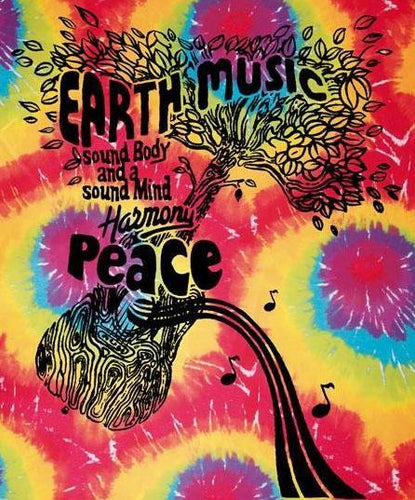 Tapestries Earth, Music & Peace - Tie-Dye - Tapestry 003754