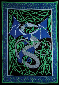 Tapestries English Dragon - Blue - Tapestry 100275