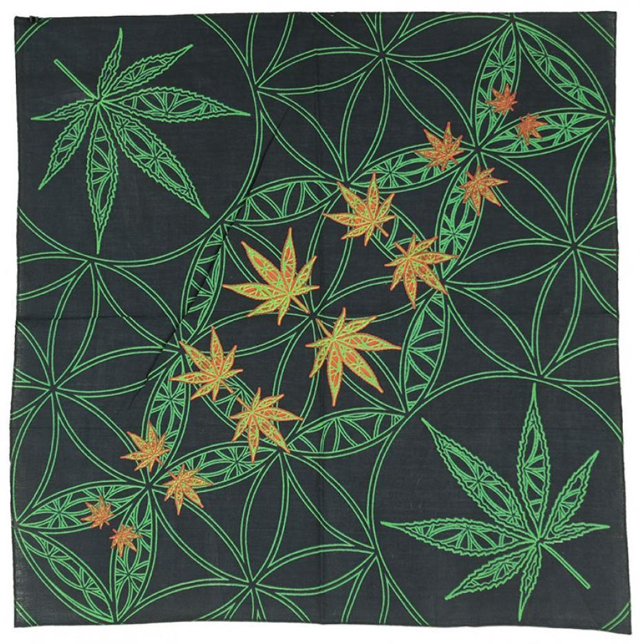 Tapestries Flower and Leaf - Black - Small Tapestry 007392