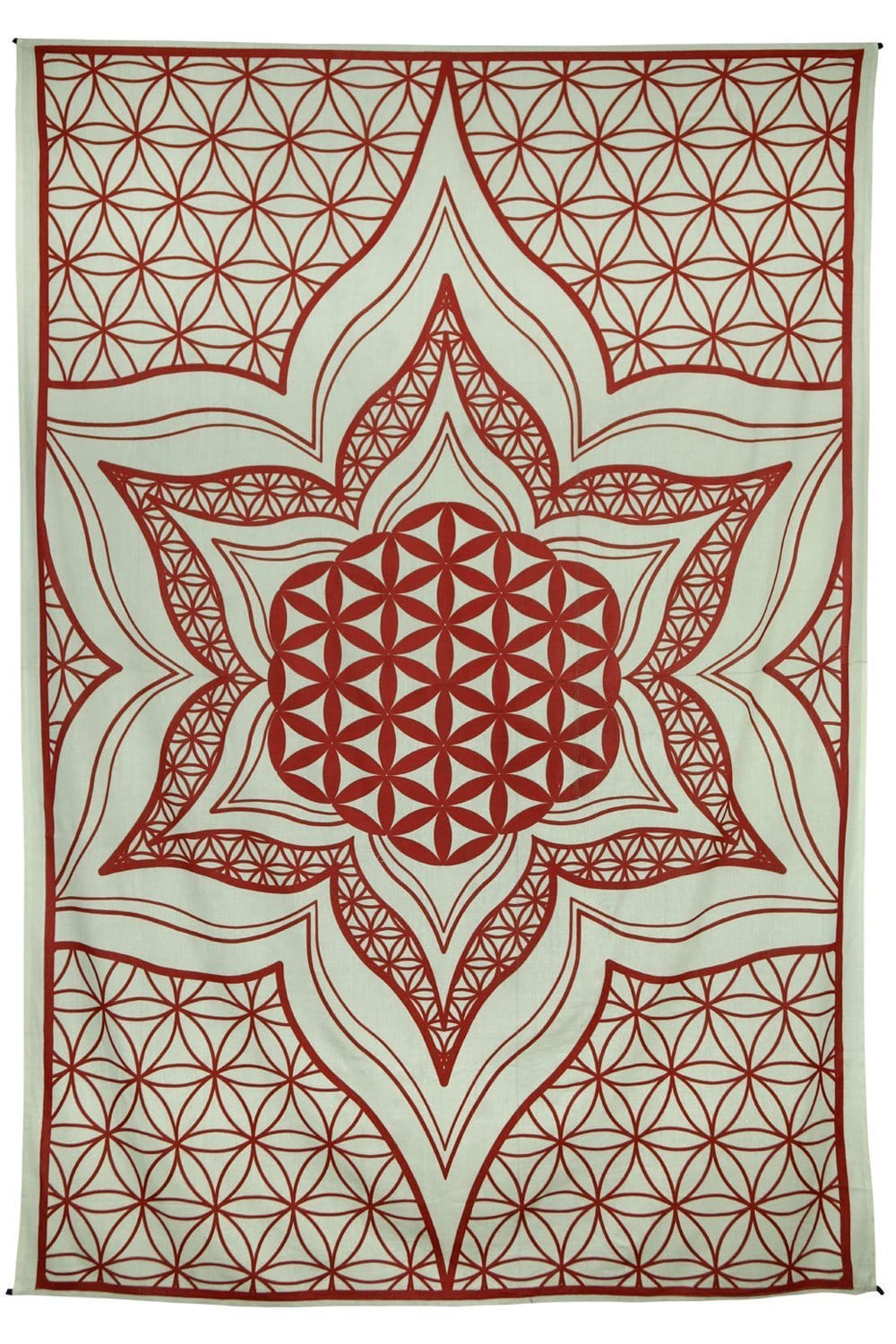Tapestries Flower of Life - Red - Tapestry 100105