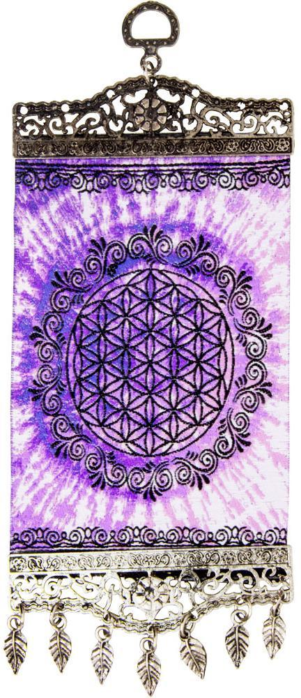 Tapestries Flower of Life with Antiqued Metal Frame - Small Tapestry 012173