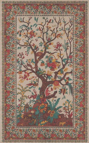 Tapestries Flower Tree - Cream - Tapestry 001047