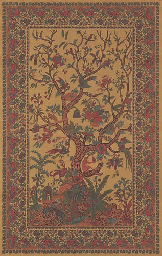 Tapestries Flower Tree - Gold - Tapestry 001048