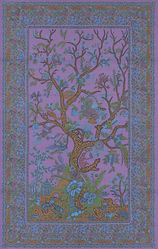 Tapestries purple Flower Tree - Tapestry 001050