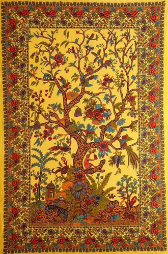 Tapestries Flower Tree - Yellow - Tapestry 100665