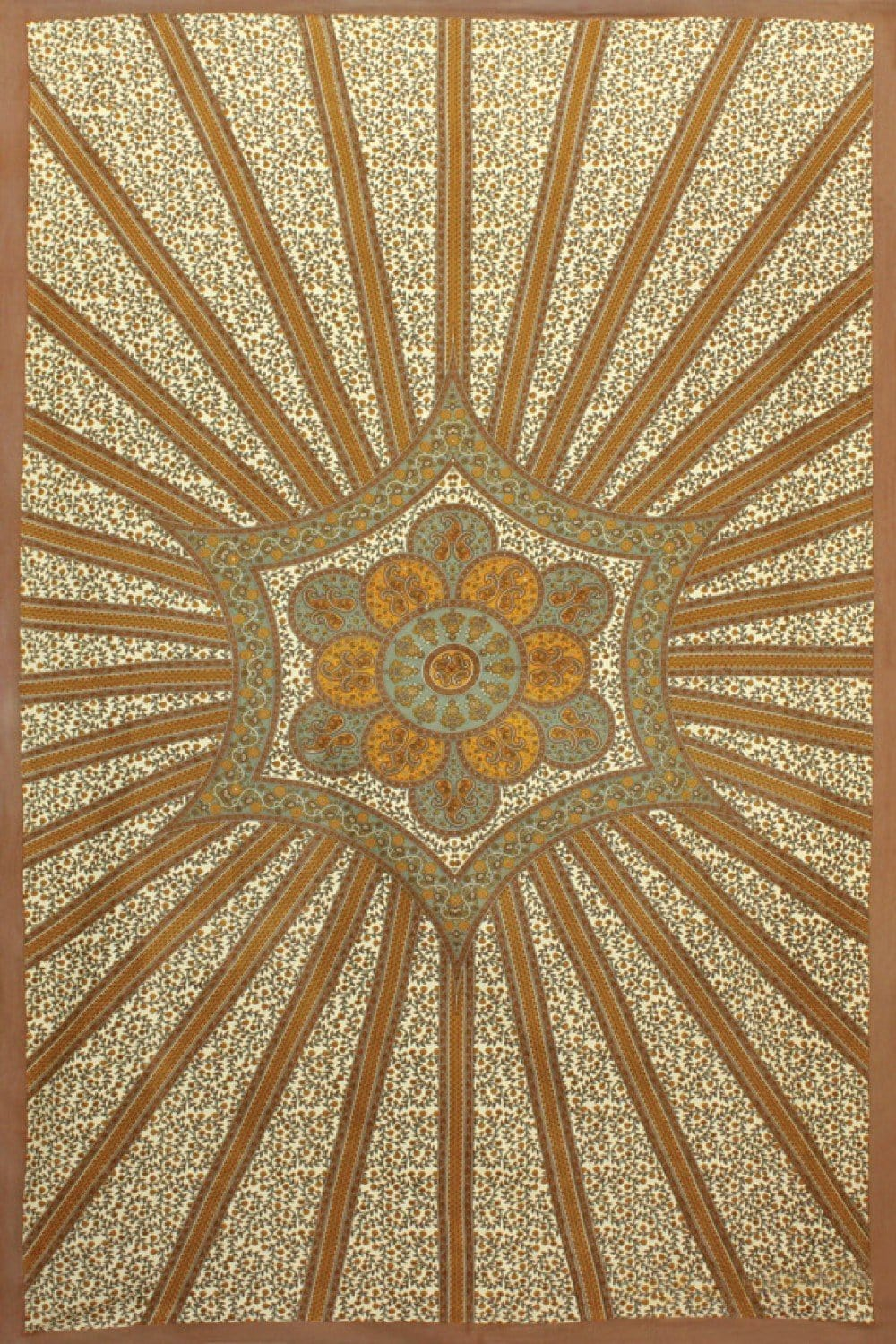 Tapestries Flowering Star - Gold - Tapestry 100104