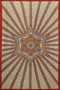 Tapestries Flowering Star - Red - Tapestry 007248