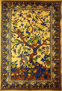 Tapestries Flowering Tree of Life - Yellow - Tapestry 100646
