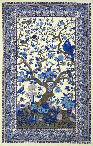 Tapestries Flowering Trees and Birds - Blue and Purple - Tapestry 100661