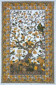 Tapestries Flowering Trees and Birds - Grey and Brown - Tapestry 100662