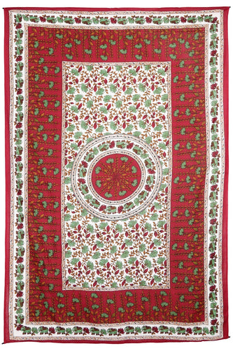 Tapestries Flowers and Elephants - Red - Tapestry 100594