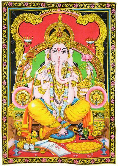 Tapestries Ganesh Sitting - Tapestry 009728