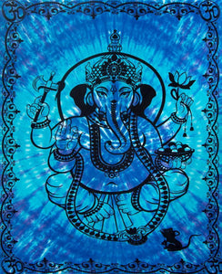 Tapestries Ganesha - Blue - Tapestry 012170