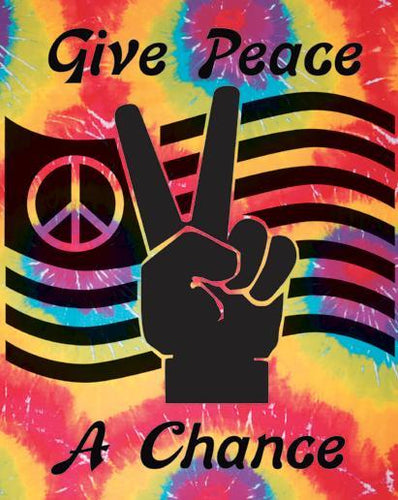 Tapestries Give Peace a Chance - Tie-Dye - Tapestry 001159