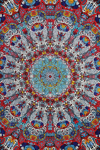 Tapestries Glow in the Dark - Dark Sunburst - Tapestry 007393