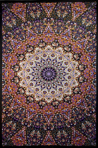 Tapestries Glow in the Dark - Purple India Star - Tapestry 007247