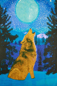 Tapestries Glow in the Dark - Wolf - Tapestry 007507