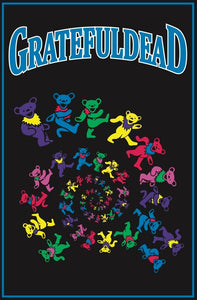 Tapestries Grateful Dead - Spiraling Bears - Tapestry 007380