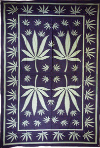 Tapestries Green Pot Leaf - Tapestry 001186