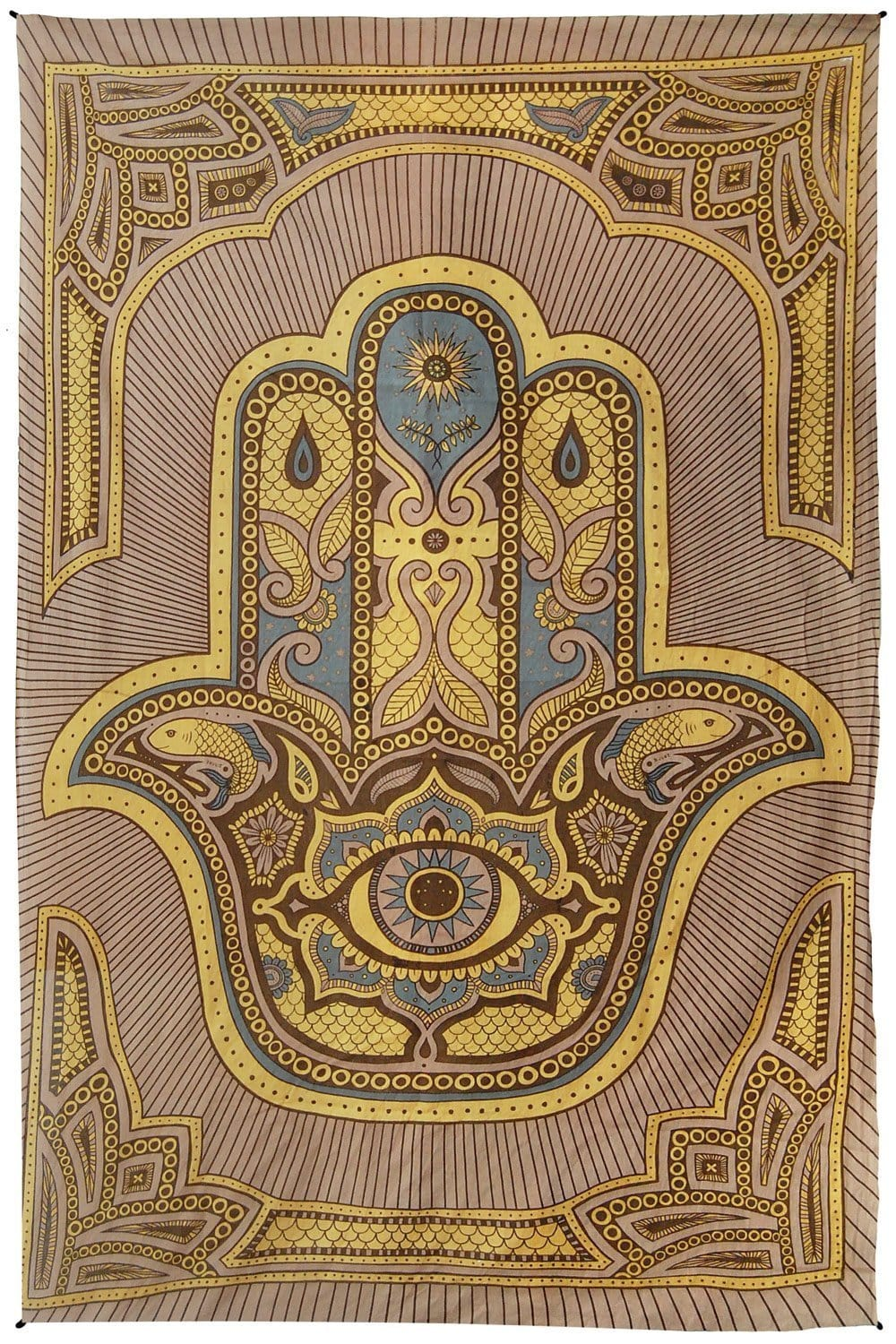 Tapestries Hamsa Hand of Fatima - Brown - Tapestry 100019