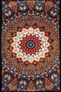 Tapestries India Star - Orange - Tapestry ta-115