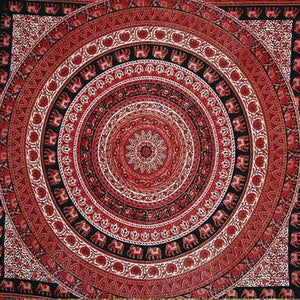 Tapestries Indian Circle - Red - Tapestry 006912