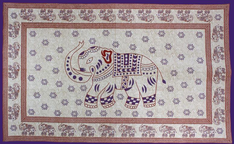 Tapestries Indian Elephant - Purple - Tapestry 001928