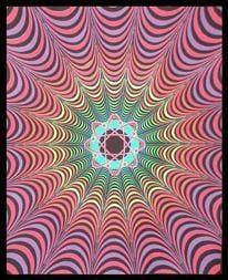 Tapestries Infinity Atom - Black Light Tapestry 000791