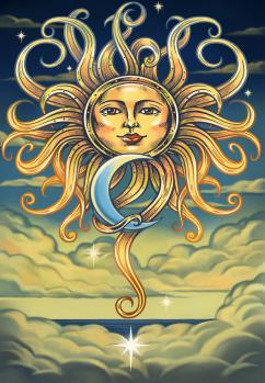 Tapestries Intertwined Sun and Moon - Tapestry 100863