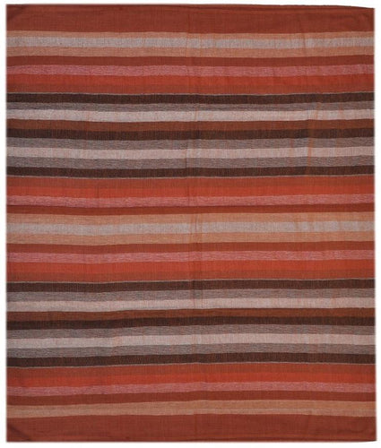 Tapestries Madras Striped - Maroon and Brown - Tapestry 100056
